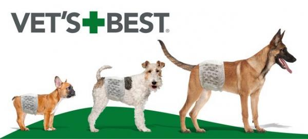 Vet's Best Comfort Belly Band Diapers For Male Dogs