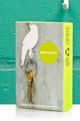 Bird Hooks by Suck UK, nicely packaged for gifting