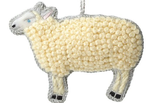 Indian Artisan Curly Sheep Ornament