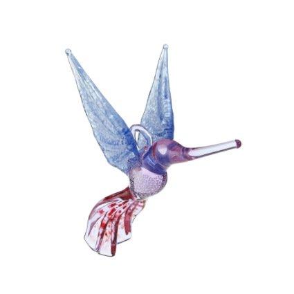 Glass Hummingbird ornament by Bandhu Scott Dunham