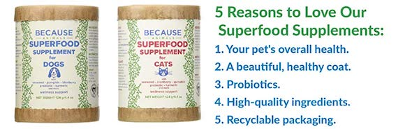 Because Animals Superfood Supplements For Dog and Cats