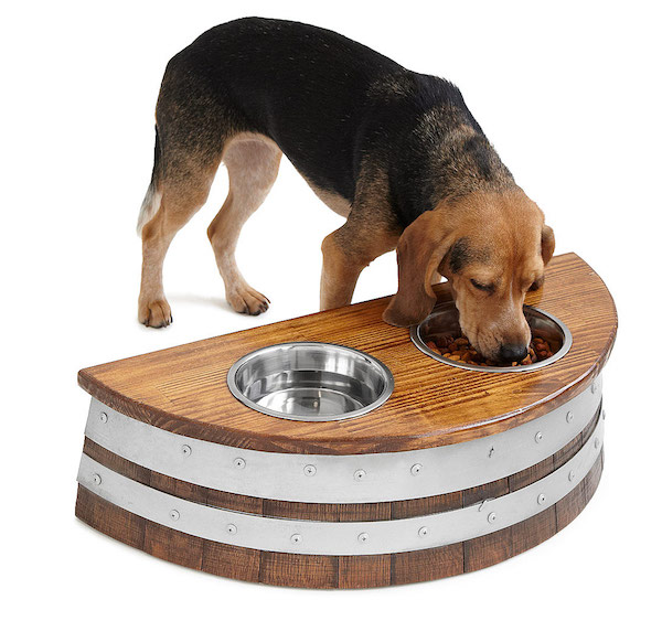 The Wine Barrel Dog Feeder