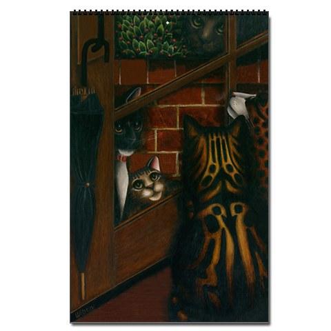 Cat Paintings by Carol Wilson 2011 Cat Wall Calendar: © Carol Wilson
