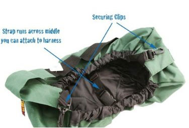 Kyjen Outward Hound Pet Sling folds up.