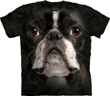 Boston Terrier Face T-Shirt by The Mountain