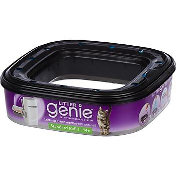 Litter Genie cartridge refill fits into top of the disposal system