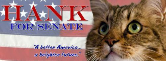 Hank's U.S. Senate Campaign Banner: © 2012 Hank For Senate Committee