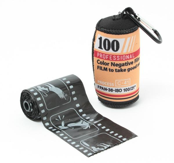 Retro Photo Film Style Dog Poop Bags & Holder