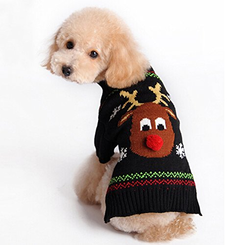 ABRRLO Ugly Christmas Sweater For Dogs: Reindeer