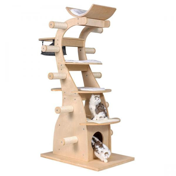 "Good Life 63"" Modern Design Cat Tree House with Scratching Post Tower"