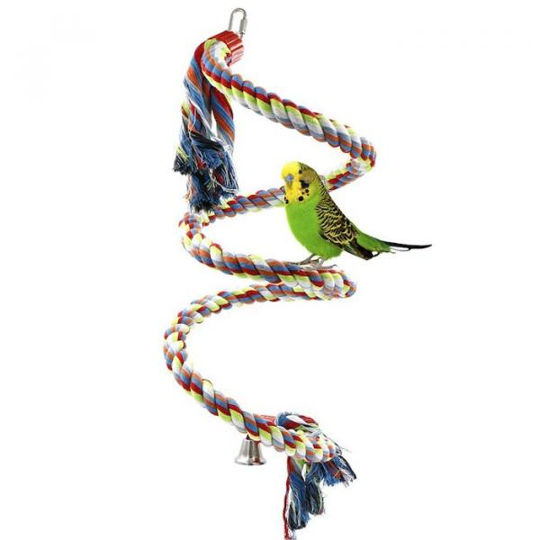 Rusee Rope Bungee Bird Toy