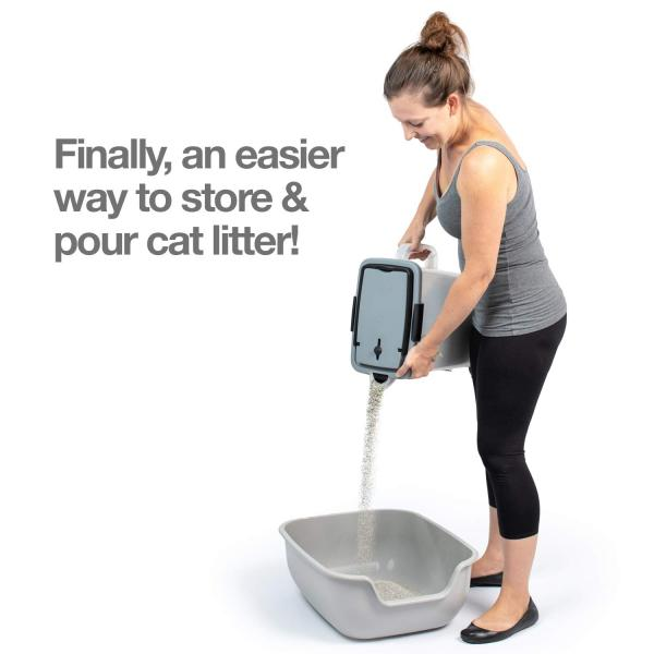 PetFusion BetterBin Portable Litter Storage Bin​​​​​​​