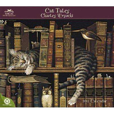 Charles Wysocki Cat Tales 2011 Wall Calendar