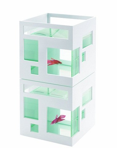 Stack of two Fish Hotels in white by Umbra