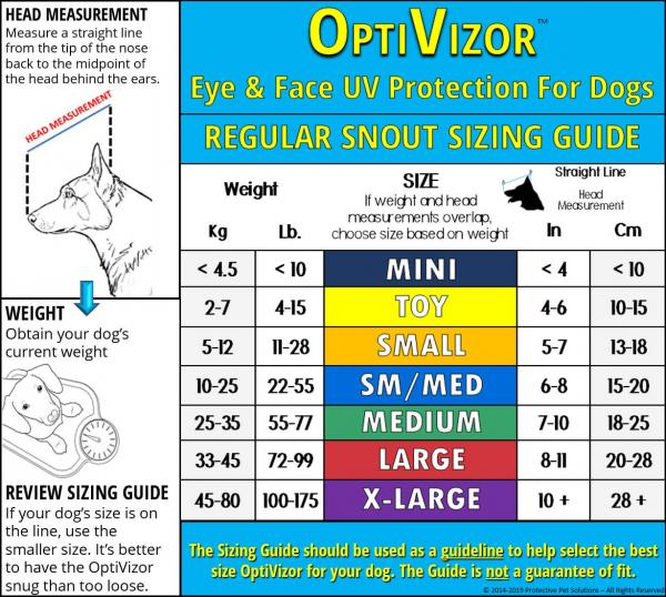 OptiVisor measuring chart