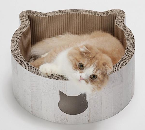 Necoichi Cat-headed Scratcher Bed