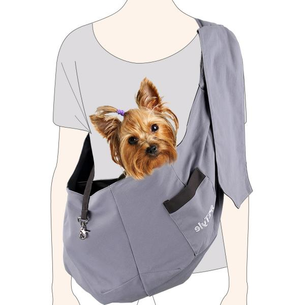 sPETyle Hands Free Reversible Pet Bag Sling Carrier