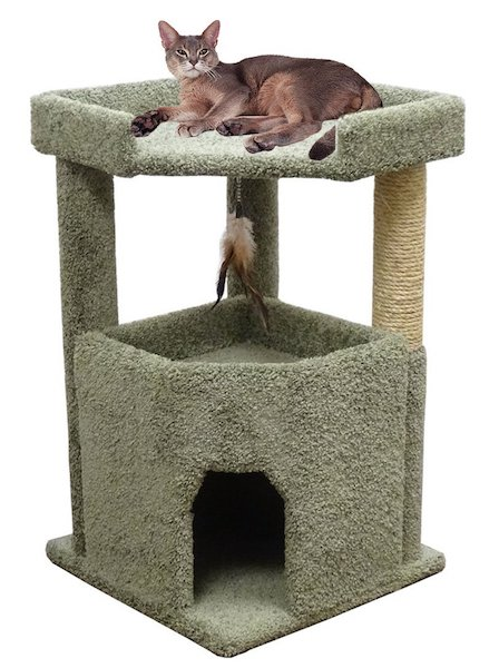 CozyCatFurniture One Story Cat Condo For Big Cats