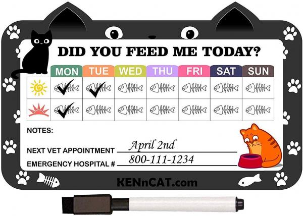 KENnCAT Pet Feeding Reminder Magnet for Cats