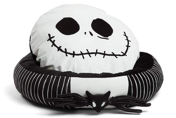 ​  Disney Nightmare Before Christmas Jack Skellington Bolstered Round Bumper Pet Bed