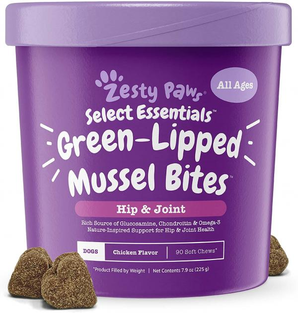 Zesty Paws New Zealand Green Lipped Mussel Chewable Treats for Dogs
