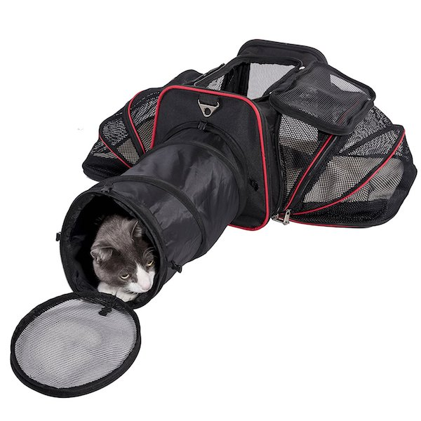 Pet Peppy 2-Side Expandable Pet Carrier (with tunnel)