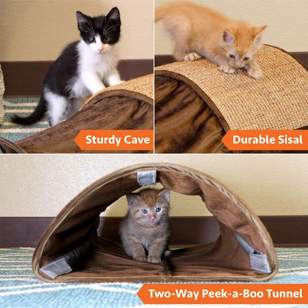 Kitty City Cave Tunnel/Sisal Carpet Scratcher