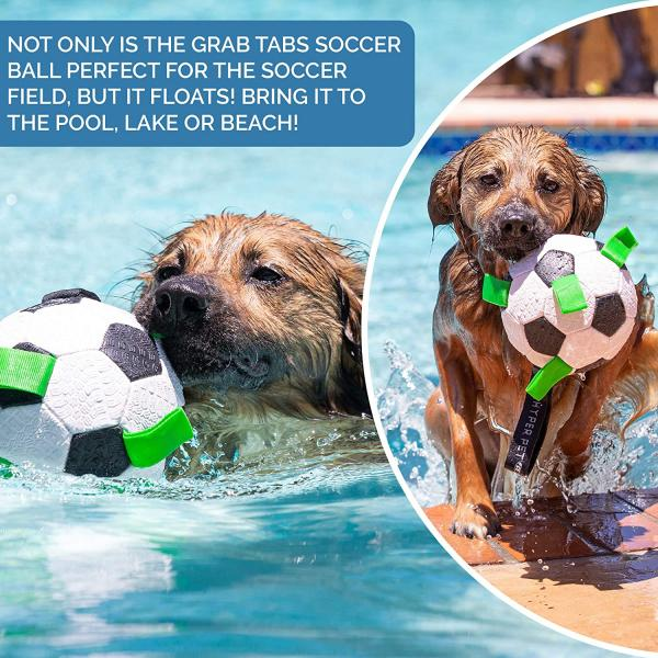 Hyper Pet Grab Tabs Dog Soccer Ball