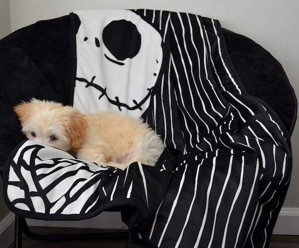Disney Nightmare Before Christmas Jack Skellington Luxury Multi-Functional Pet Throw Blanket