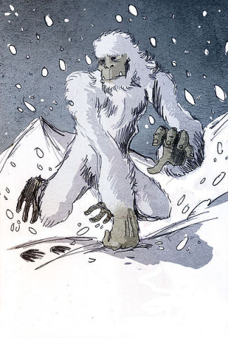 The Abominable Snowman or Yeti (Image by Philippe Semeria/Creative Commons via Wikimedia)