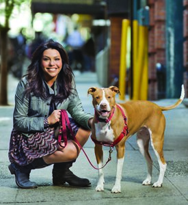 Rachel Ray and her Pitbull, Isaboo: image via aspca.org