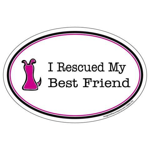I Rescued My Best Friend Magnet