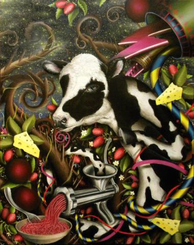 Cow Art by Hudgins: Bad Day Bovine by Eric Hudgins