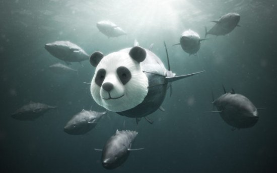 Panda Tuna Art by Mangold: Cute? Or Dangerous? Maybe this bomb should use a different disguise.
