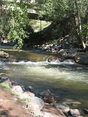 Boulder Creek -- West of Targeted Coyote Area (Photo by Susan/Creative Commons via Wikimedia)