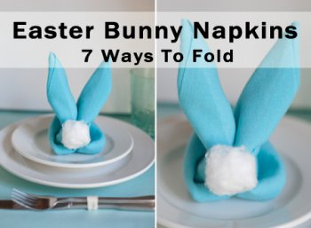 7 easy ways to fold cute bunny napkins for easter petslady com