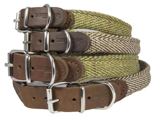 Earthbound Leather & Tweed Dog Collars