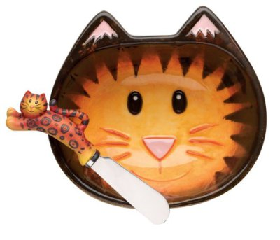 Cat Dip Bowl spreader set: Cat Dip Bowl spreader set