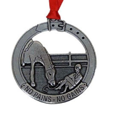 'No Pains - No Gains' Horse and Rider Ornament by Loriece