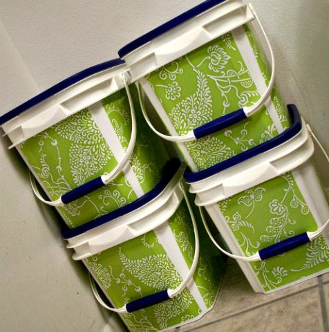 DIY Storage Containers From Upcycled Kitty Litter Buckets: From A Little  Life In Everything Blog