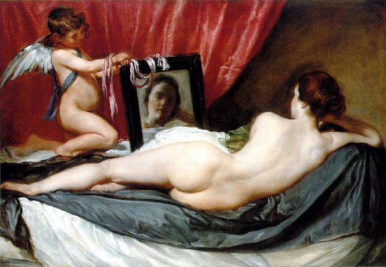 Venus At Her Mirror by Diego Velaquez: image via wikipedia