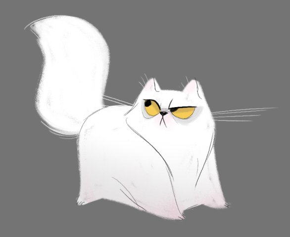 Persian Cat Drawing by Heather Nasheim