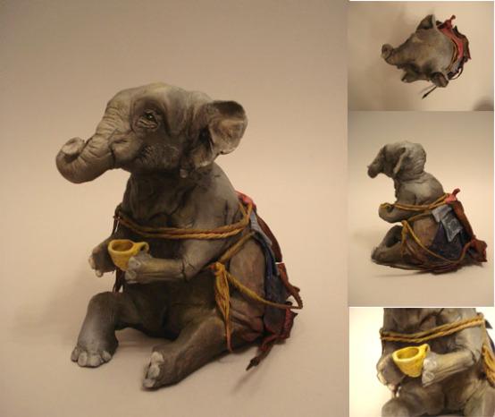 Elephant with Coffee by El