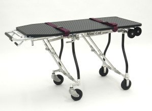 The Mini Cot for Pets: The Mini Cot, made by Ferno Mortuary, allows pet funeral directors to respectfully transport a pet that has passed away.