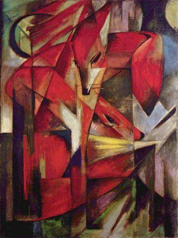 The Fox by Franz Marc: The Fox by Franz Marc