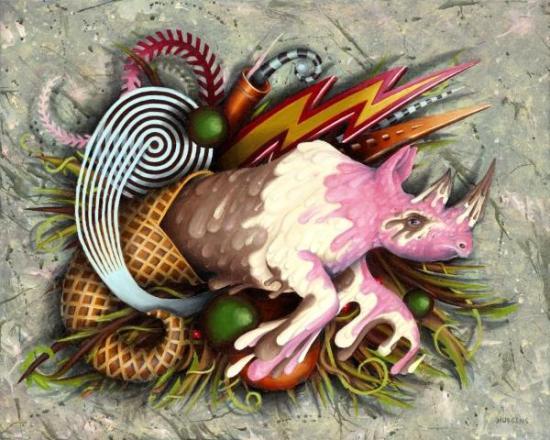 Rhino Art by Hudgins: The Great Neopolitan Rhino by Eric Hudgins