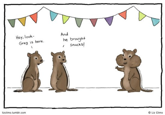 Greg Brought Snacks by Climo: Chipmunk Party by Climo