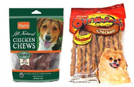 Hartz Chicken Chews & Hartz Oinkies Pig Skin Twists