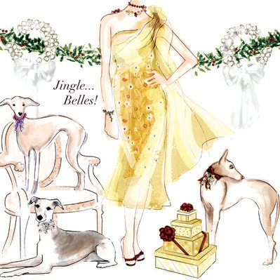 The Pet Set Christmas card, 'Jingle Bells': © The Pet Set