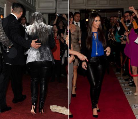 Kim Kardashian gets flour-bombed as she introduces her new perfume at the London Hotel in West Hollywood: image via khloekardashian.celebuzz.com/